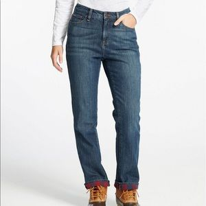 L.L. Bean Flannel Lined Jeans